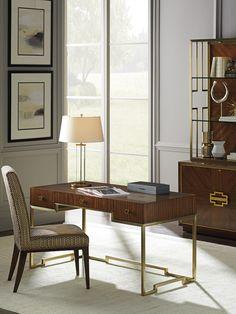 Sligh, Aventura Athena Writing Desk, Desks – Stephanie Cohen Home High Quality Furniture, Large Furniture, Contemporary Furniture, Furniture Design, Luxury Furniture, Furniture Ideas, Corner Writing Desk, Wood Writing Desk, Apartment Furniture