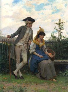 Federico Andreotti (italian, 1847-1930)_Courtship