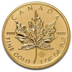 Buy the 1 oz Canadian Maple Leaf Gold Coin Online from Money Metals Exchange. Gold Maple Leaf Coins are Beautifully Struck with a Gold Purity … Gold Coin Price, Gold Price, Gold Bullion Bars, Bullion Coins, Silver Bullion, Canadian Gold Coins, Maple Leaf Gold, Gold Leaf, Gold Krugerrand