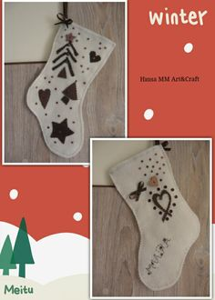 Felt Christmas stocking for my little daughter, by me