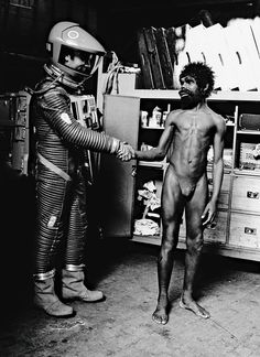 "On the set of ""2001: A Space Odyssey"""