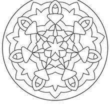 Mandala 140 - Coloring page - MANDALA coloring pages - Mandalas for BEGINNERS