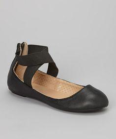 Look at this #zulilyfind! Black Crisscross-Strap Skrillex Flat by Bamboo #zulily.com finds-man made material priced $9.99