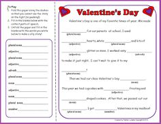 This free Valentine's Day Mad Lib activity will be a fun addition to your Valentine's Day celebrations. Encourage students to get goofy with it!