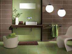 Зеленая ванная комната