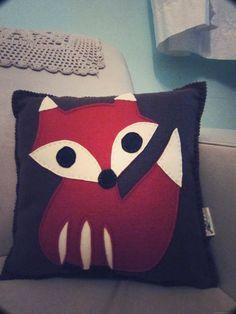 Pantoffi: A Walk in the woods - dreamy Fox cushion/pillow