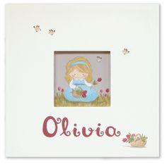 Aida Zamora - Art for kids. Custom paint. Cuadro infantil personalizado. Basket of Flowers in spring