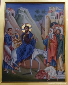Byzantine Icons, Byzantine Art, Church Icon, Palm Sunday, Religious Icons, Orthodox Icons, Christian Art, Fresco, Catholic