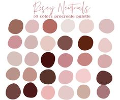 Blush Color Palette, Palette Art, Neutral Palette, Pink Color Palettes, Color Psychology, Color Swatches, Paint Swatches, Pantone Swatches, Aesthetic Colors