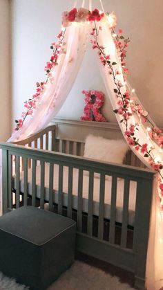Ideas for Baby Girl Nursery Walls . Ideas for Baby Girl Nursery Walls . Nursery Bedding Sets, Baby Bedroom, Baby Room Decor, Nursery Room, Nursery Grey, Girl Nursery Purple, Rustic Nursery, Floral Nursery, Baby Girl Bedding Sets
