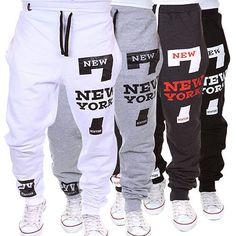 c463287db675 5.72AUD - Fashion Men s Track Pants Cuff Trousers Slacks Sport Sweatpants  Baggy Tracksuit  ebay