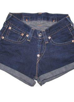 Shorts Levis, Moda Vintage, Women, Fashion, Shopping, Templates, Blue, Short Shorts, Woman Clothing