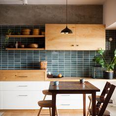 New kitchen 2018 blue Ideas Blue Tile Backsplash Kitchen, Kitchen Flooring, Backsplash Ideas, Kitchen Counters, Timber Kitchen, Rustic Kitchen, Kitchen Living, New Kitchen, Kitchen Ideas