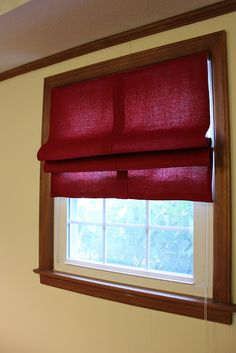 Easy removable roman shades using existing blinds.  Perfect for renters!