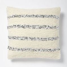 Knitted Sequins Pillow Cover - Ivory #westelm
