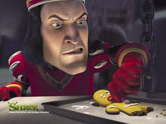 Lord Farquaad slays the gingerbread man- who knew Shrek the Musical was violent?