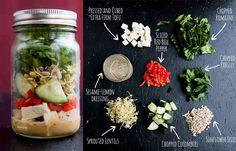 Tofu Living Salad With Sesame-Lemon Dressing