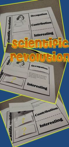 Scientific Revolution Interactive Journal- Your students will love using this great tool as a study guide!! $