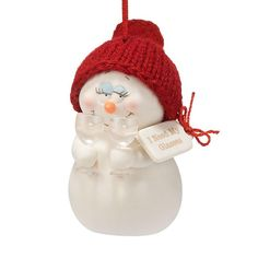 """Department 56 Snowpinions """"I Need My Glasses"""" Porcelain Snowman Hanging Christmas Ornament -- Make sure to have a look at this awesome product. (This is an affiliate link). Unique Christmas Ornaments, Christmas Store, Snowman Ornaments, Hanging Ornaments, How To Make Ornaments, Christmas Snowman, Christmas Decorations, Snowmen, Xmas"""