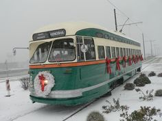 Kenosha Trolley - The Chicago Car at Christmas