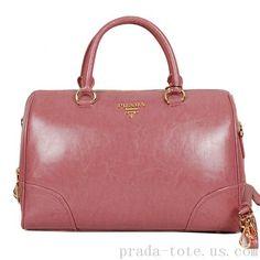 Luxury  Prada Shiny Leather Two Handle Bag Outlet store Boston Bag 5648ec079eb01