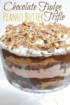 Chocolate Fudge Peanut Butter Trifle