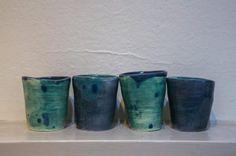 Gorgeous Teal Tea Cups