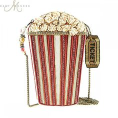 Mary Frances Handbag Butter Me Up Beaded Jeweled Popcorn Hollywood Movies Handbag Shoulder bag Unique Handbags, Unique Purses, Unique Bags, Purses And Handbags, Mary Frances Purses, Mary Frances Handbags, Mary E Francis, Novelty Handbags, Novelty Bags