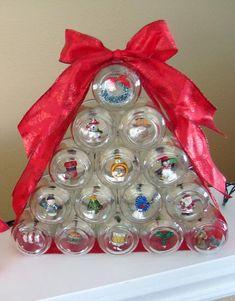Lighted Baby Food Jar Christmas Tree Ornament | Crafts from putitinajar.com + mason jars, mason jars, mason jars.