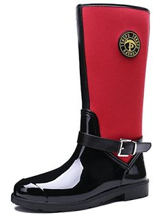 TONGPU Women's Outdoor Waterproof Boots Fashion Garden Rain Shoes Our company is specialized in Rain boots,our shoes exported to countries all over the world. Rain And Snow Boots, Rubber Rain Boots, Rain Shoes, Waterproof Boots, Fashion Boots, Garden, Red, Outdoor, Women
