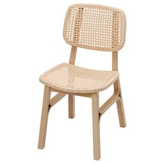 VOXLÖV Chair, light bamboo A gift from nature, shaped and bent for optimal beauty and comfort. The sturdy frame is made of durable bamboo, and handwoven paper twine creates a strong seat with a resilient feel when you sit on it. Table And Chairs, Dining Chairs, Dining Table, Dining Room, Ikea Family, Chair Pads, Types Of Wood, Furniture Making, Rattan