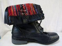 Womens DREAM PAIR TERRAN Vegan Ankle Chukka BOOT Shoe Foldover BLACK 11