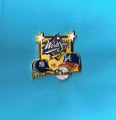 1999 World Series Dueling MLB Yankees vs Braves Baseball Lapel Hat Pin #Pins
