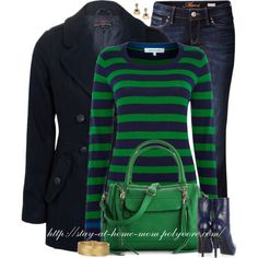 """""""Navy & Green"""" by stay-at-home-mom on Polyvore"""