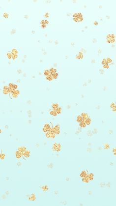 Lucky Gold Glitter Shamrock iPhone Wallpaper Background