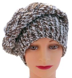 Check out my new Handmade Brown and White Warm Winter Hat, Brown and White Snow Hat, Brown and White French Beret, Brown and White Slouchy Hat at https://www.etsy.com/listing/197831336/handmade-brown-and-white-warm-winter-hat?ref=shop_home_active_2   It's so versatile!!!   #trending #fashion #accessories #winter #hats #handmade #knitting #pretty