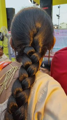 Indian Hairstyles, Braided Hairstyles, Beautiful Long Hair, Beautiful Women, Long Indian Hair, Thick Braid, Lace Braid, Super Long Hair, Braids For Long Hair
