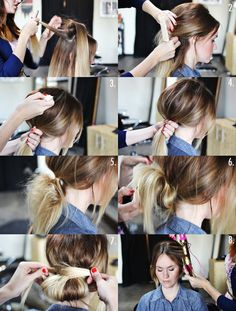 low bun how to
