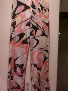 beautiful Emilio Pucci trousers in silk jersey