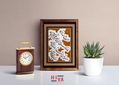 ابعاد الاثر : 45 × 35 Clock, Calligraphy, Home Decor, Watch, Lettering, Decoration Home, Room Decor, Clocks, Calligraphy Art