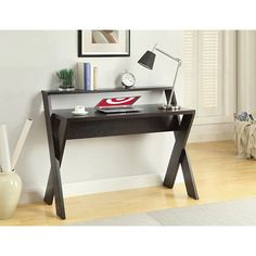 Newport Desk with Shelf Brown - Convenience Concepts : Target