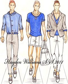 Men Fashion Designer Sketches Fashion Sketches Williams