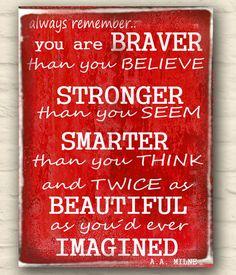 Obraz, obrázek..trochu motivace / Zboží prodejce dílnička | Fler.cz Stronger Than You, Always Remember, Signs, Shop Signs, Sign