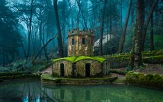 Ancient ducks house in the park of Pena Palace in Sintra, Portugal. UNESCO World Heritage Site and one of the Seven Wonders of Portugal Sintra Portugal, Spain And Portugal, Portugal Trip, Places To Travel, Places To See, Travel Destinations, Voyage Europe, Historical Sites, Places Around The World