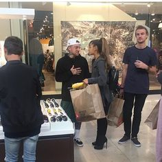 -NEW PHOTO- Ariana Grande and Mac Miller at South Park Mall earlier today.