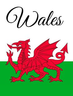 Wales Flag Welsh Dragon Banner Cymru Pennant UK United Kingdom New Wales Euro 2016, Wales Flag, Fall Garden Flag, Saint David's Day, Welsh Rugby, Welsh Dragon, Celtic Culture, Commonplace Book, Outdoor Flags