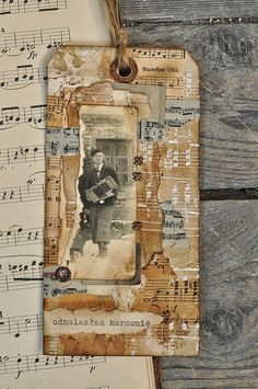 Heritage Photo Tag ~ Love the layered paper look. This would make a great page embellishment or could be easily adapted to a scrapbook layout.