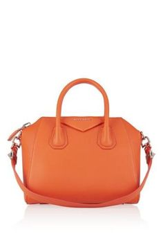 Small Antigona bag in bright-orange textured-leather #accessories #covetme #givenchy