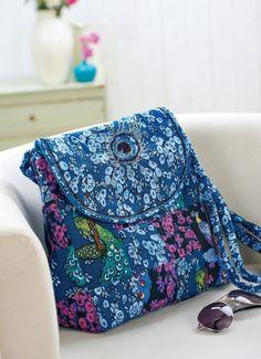 V&A Peacock Fabric Bag