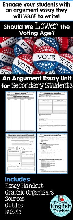 your essay should